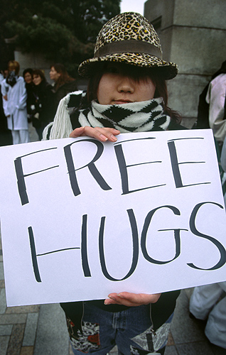Free hugs in Harajuku