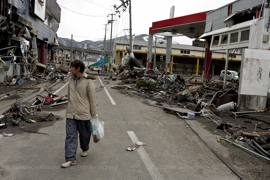 The effects of the tsunami in Iwate Prefecture, Japan March 2011