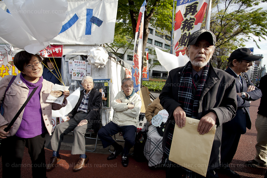 Occupy Tokyo Nuclear camp fight court order