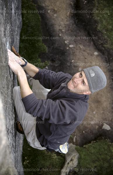 Peak District climbing