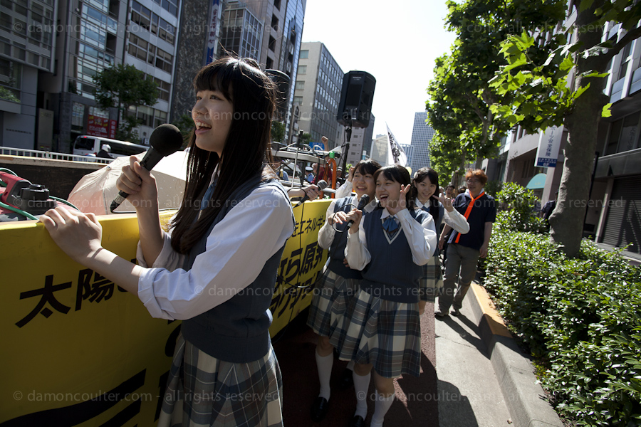 Anti nuclear protest