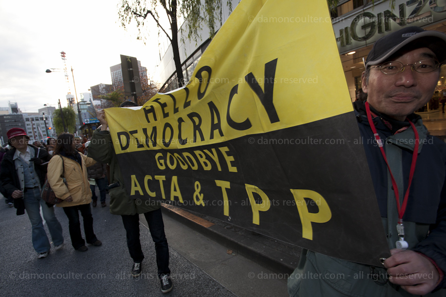 Anti TPP protest