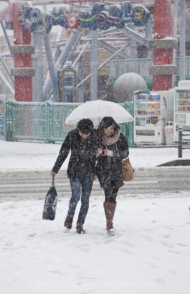 Heavy Snows in Yokohama