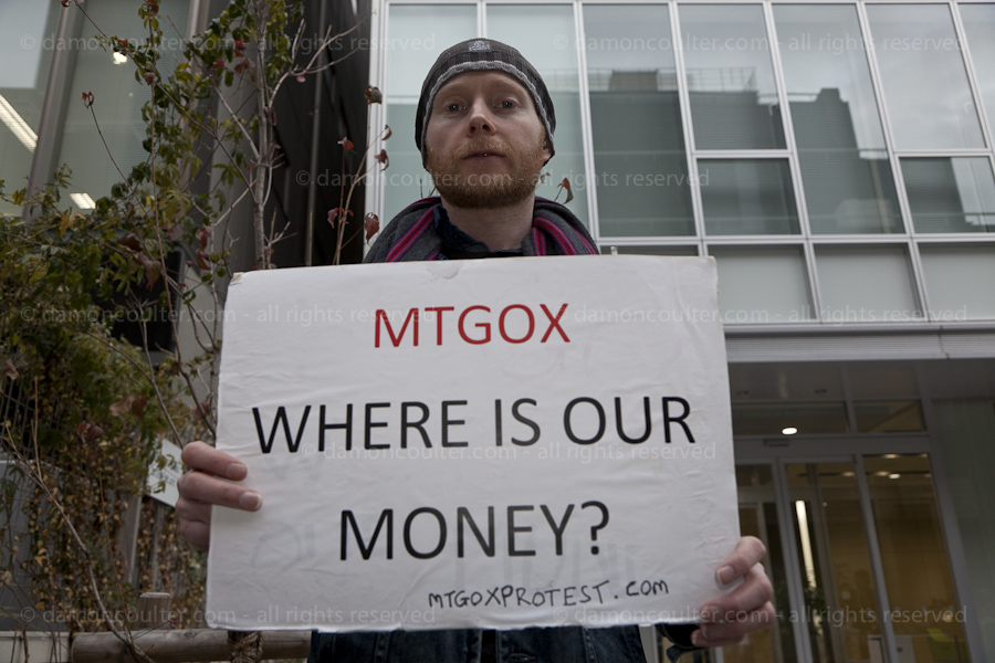 Bitcoin protest in Tokyo