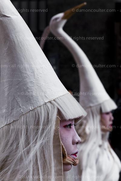Sanja Matsuri in Tokyo white heron dancers, shira sagi no mai