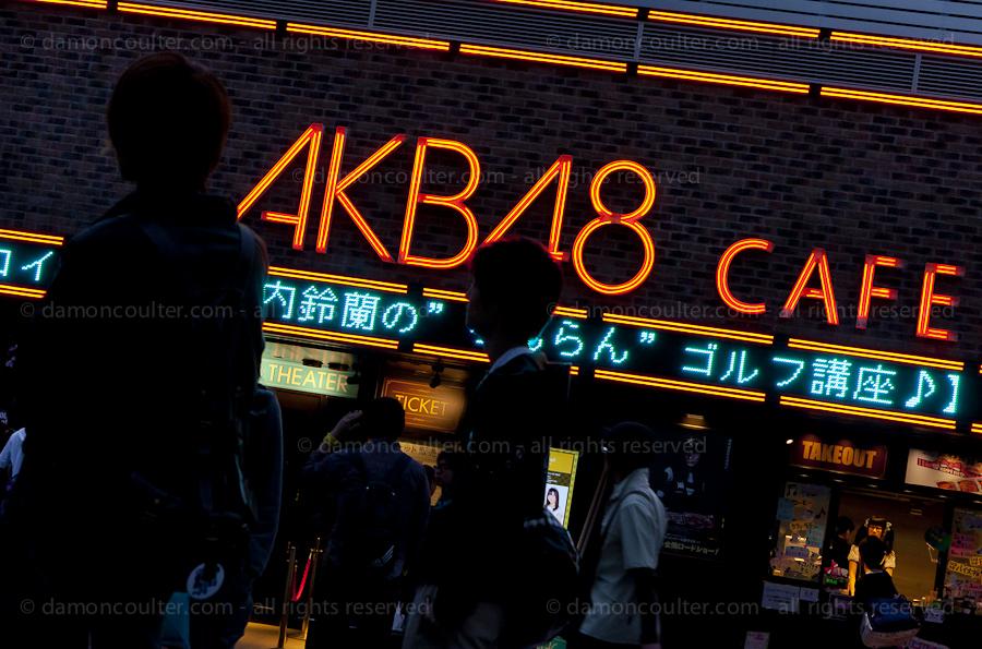 AKB48 cafe in Akihabara, Tokyo